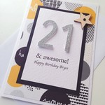 Happy Birthday ANY AGE awesome circles XLARGE custom card
