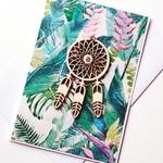 Blank tropical rainforest dreamcatcher lasercut   card