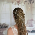 flower crown, hair vine, Bridal hairpiece, bridal headpiece, rustic bride
