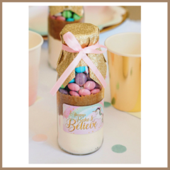 UNICORN Cookie Mix in a bottle. SMALL - makes 6 delicious cookies.