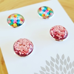 Combo Studs - Two pairs of Silver Plated stud earrings.