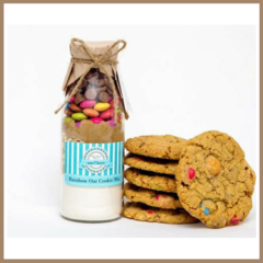 RAINBOW OAT Cookie Mix in a bottle. SMALL - makes 6 delicious cookies.