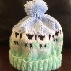 Child's sheep beanie