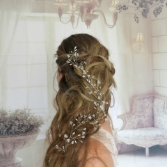 flower crown, hair vine, Bridal hairpiece, bridal headpiece, rustic bride