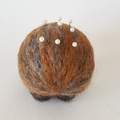 Echidna pincushion, gift for sewer/quilter. Eco friendly, biodegradable gift.
