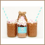 SMALL Decadent HOT CHOCOLATE Mix in a bottle. Makes 2 decadent mugs