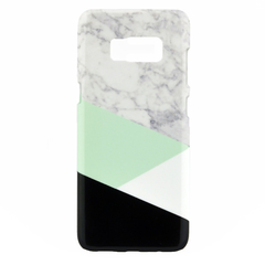 Geometric Black White & Mint Split Marble - for iPhone & Samsung Galaxy phones