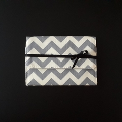 Grey Chevron Gift Card Purse - Free postage