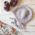 Little Bonnet - Size 1 - Hand Knitted  - 100% Australian Wool