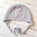 Little Bonnet - Size 1 - Hand Knitted  - 100% Australian Wool