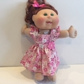 Dolls Ruffled sleeve Dress to fit Cabbage Patch Dolls