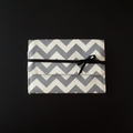 Grey Chevron Gift Card Purse - Free postage