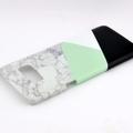 Geometric Black White & Mint Split Marble - for iPhone & Samsung Galaxy phones