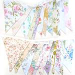 Vintage Bunting . Pretty Spring Pastel & Ivory / White Multi x 2