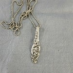 Pendant necklace made from vintage silver plated spoon