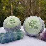 Fluorite and Rainforest Crystal Infused Bath Bombs
