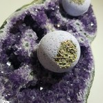 Amethyst and Lavender Crystal Infused Bath Bomb