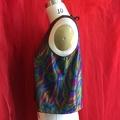 Multi-coloured Sparkly festival top. Size S/M AU 10/12. Vegan Sustainable Design