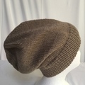 Unisex adult hand knit  Slouchy/beanie Classic 3/3