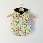 Size 2 - Twig Reversible Vest - Woodland / Chocolate