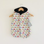 Size 6 - Twig Reversible Vest - Scooters / Chocolate