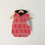 Size 5 - Twig Reversible Vest - Elephants / Navy