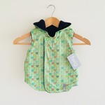 Size 2 - Twig Reversible Vest - Green Squirrels / Navy