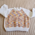SIZE 3 yrs: Hand knitted jumper: acrylic,  unisex, washable
