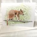 Tree Kangaroo greeting card Australian wildlife art forest tree-dwelling animal