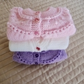 SIZE 6- 12 months  - knitted cardigan /jacket: girl, washable, easy care