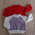 Size 6-12 months: hand knitted jumper : girl, Washable, warm