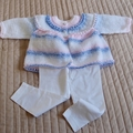 SIZE 1 years - knitted cardigan /jacket: girl, washable, easy care