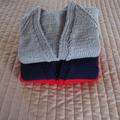 SIZE 3 yrs : Hand knitted cardigan : acrylic, unisex