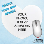 Custom Personalised Mouse Pad - Heart shaped mouse pad