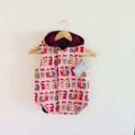Custom Spot - Twig Reversible Vest - Geisha / Plum