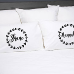 Personalised Wedding Gift Couples Pillow Cases