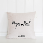 Valentines Day Pillow Cover -  Accent Pillow - Personalised Gift