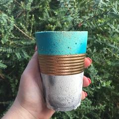 Cute Tea Concrete Soy Candle- Green Tea & Lemongrass.