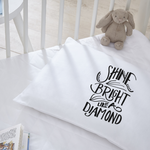 Shine Bright pillow cases. Wedding, anniversary Gift engagement