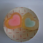 heart glycerin soap x 2