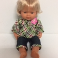 Miniland Capri Pants and Peasant Top to fit 38cm Dolls