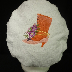 Ladies After Shower Towel Cap-VICTORIAN BOOT 2