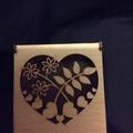 Hinged heart box