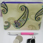 Handbag Accessory Pouch - Jewellery Pouch - Paisley Design