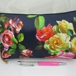 Clutch Bag - Navy Rose Design