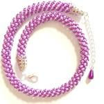 Purple Tubular Beaded Necklace