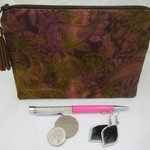 Handbag Accessory Pouch - Jewellery Pouch - Musk Paisley Design