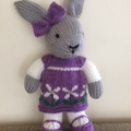 Rebecca Bunny Hand knitted Easter rabbit / bunny Toy Softie