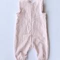 Pink Linen Henley Romper