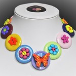 Kids Necklace - Orange Butterfly
